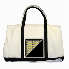 Note Abstract Paintwork Two Tone Tote Bag