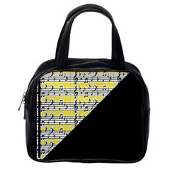 Note Abstract Paintwork Classic Handbags (One Side)