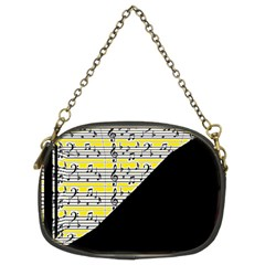 Note Abstract Paintwork Chain Purses (two Sides)