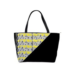 Note Abstract Paintwork Shoulder Handbags