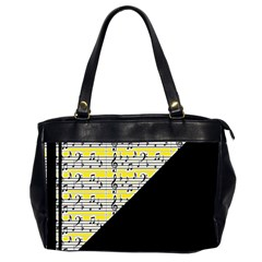 Note Abstract Paintwork Office Handbags (2 Sides)