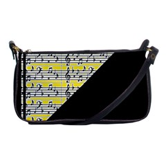 Note Abstract Paintwork Shoulder Clutch Bags