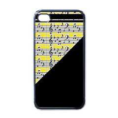 Note Abstract Paintwork Apple iPhone 4 Case (Black)