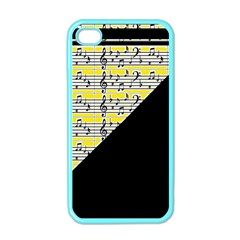 Note Abstract Paintwork Apple iPhone 4 Case (Color)