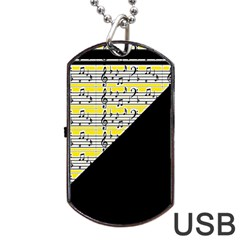 Note Abstract Paintwork Dog Tag USB Flash (One Side)