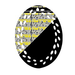 Note Abstract Paintwork Oval Filigree Ornament (two Sides)