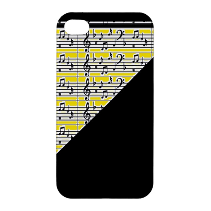 Note Abstract Paintwork Apple iPhone 4/4S Hardshell Case