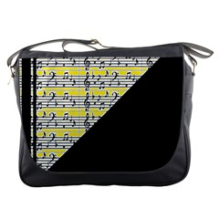 Note Abstract Paintwork Messenger Bags