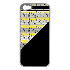 Note Abstract Paintwork Apple iPhone 5 Case (Silver)