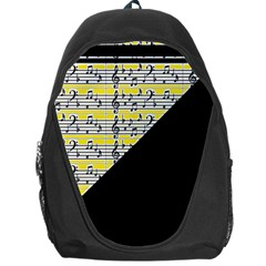 Note Abstract Paintwork Backpack Bag