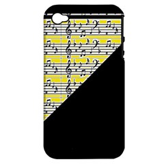 Note Abstract Paintwork Apple Iphone 4/4s Hardshell Case (pc+silicone)