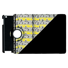 Note Abstract Paintwork Apple iPad 3/4 Flip 360 Case