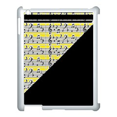Note Abstract Paintwork Apple Ipad 3/4 Case (white)