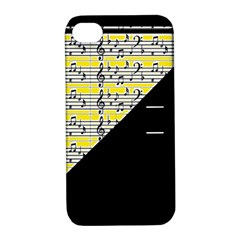 Note Abstract Paintwork Apple Iphone 4/4s Hardshell Case With Stand