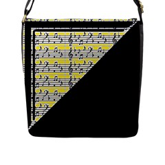 Note Abstract Paintwork Flap Messenger Bag (l)