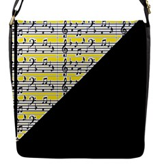 Note Abstract Paintwork Flap Messenger Bag (s)
