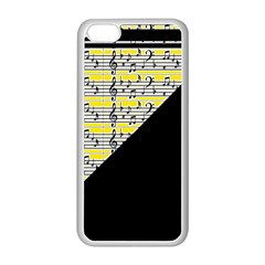 Note Abstract Paintwork Apple iPhone 5C Seamless Case (White)