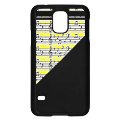 Note Abstract Paintwork Samsung Galaxy S5 Case (Black)