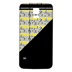Note Abstract Paintwork Samsung Galaxy S5 Back Case (White)