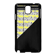 Note Abstract Paintwork Samsung Galaxy Note 3 Neo Hardshell Case (Black)
