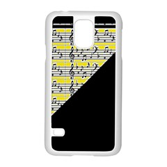 Note Abstract Paintwork Samsung Galaxy S5 Case (White)