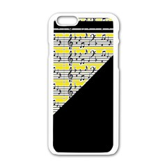 Note Abstract Paintwork Apple Iphone 6/6s White Enamel Case