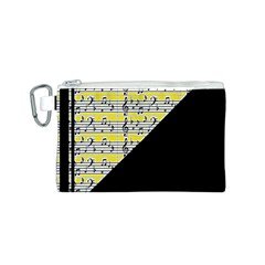 Note Abstract Paintwork Canvas Cosmetic Bag (S)