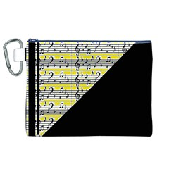 Note Abstract Paintwork Canvas Cosmetic Bag (XL)