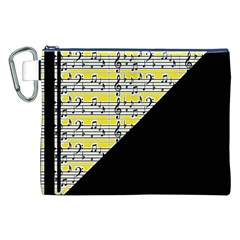 Note Abstract Paintwork Canvas Cosmetic Bag (xxl)