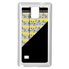 Note Abstract Paintwork Samsung Galaxy Note 4 Case (White)