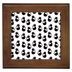 Cat Seamless Animals Pattern Framed Tiles