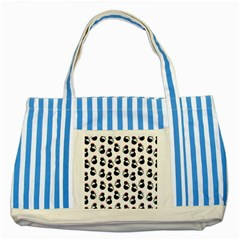 Cat Seamless Animals Pattern Striped Blue Tote Bag
