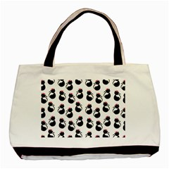 Cat Seamless Animals Pattern Basic Tote Bag (two Sides)