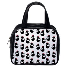 Cat Seamless Animals Pattern Classic Handbags (One Side)