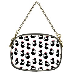 Cat Seamless Animals Pattern Chain Purses (One Side)