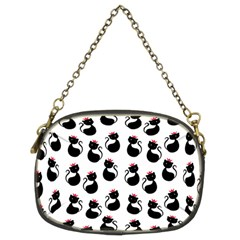 Cat Seamless Animals Pattern Chain Purses (Two Sides)