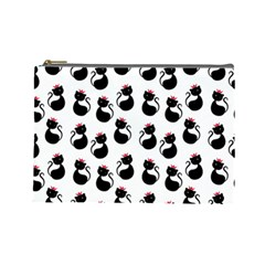 Cat Seamless Animals Pattern Cosmetic Bag (large)