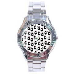 Cat Seamless Animals Pattern Stainless Steel Analogue Watch