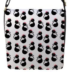 Cat Seamless Animals Pattern Flap Messenger Bag (S)