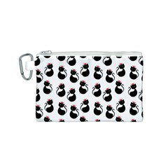 Cat Seamless Animals Pattern Canvas Cosmetic Bag (S)