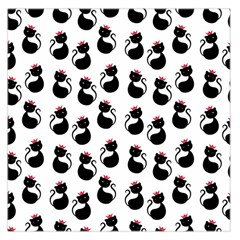 Cat Seamless Animals Pattern Large Satin Scarf (Square)