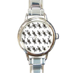 Insect Animals Pattern Round Italian Charm Watch