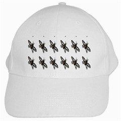Insect Animals Pattern White Cap