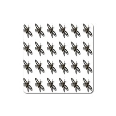 Insect Animals Pattern Square Magnet