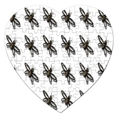 Insect Animals Pattern Jigsaw Puzzle (Heart)