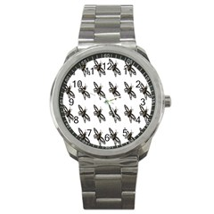 Insect Animals Pattern Sport Metal Watch