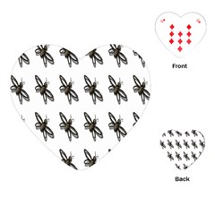 Insect Animals Pattern Playing Cards (heart)