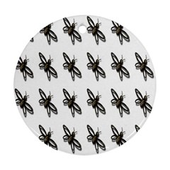 Insect Animals Pattern Round Ornament (two Sides)