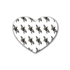 Insect Animals Pattern Heart Coaster (4 pack)