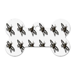 Insect Animals Pattern Dog Tag Bone (one Side)